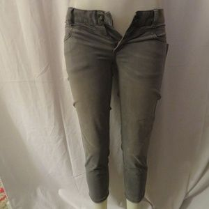 """NWT FREE PEOPLE """"MONTEREY"""" GRAY CROP JEANS 26"""